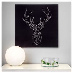 hirschgeweih vorlage hirsch string art diy und reindeer. Black Bedroom Furniture Sets. Home Design Ideas