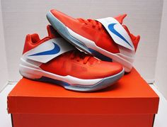68e13ea8095 Details about Nike KD IV 4 Creamsicle Size 11 - Orange White Blue - Galaxy  - 473679 800