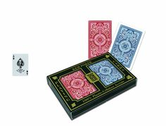 KEM Arrow Playing Cards: 2 Deck Set Red and Blue, Standard Index