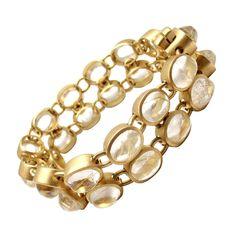 H. Stern Rutilated Quartz Yellow Gold Link Bracelet | From a unique collection of vintage link bracelets at https://www.1stdibs.com/jewelry/bracelets/link-bracelets/