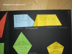 Anche nei trapezi, la piegatura sottolinea i triangoli laterali.