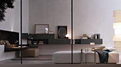 Fortepiano Bookshelves and multimedia - Molteni