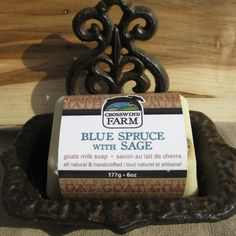 Check out Cross Wind Farm -... now available on our website! http://www.peterboroughcraftworks.ca/products/cross-wind-farm-goats-milk-soap-blue-spruce-with-sage?utm_campaign=social_autopilot&utm_source=pin&utm_medium=pin