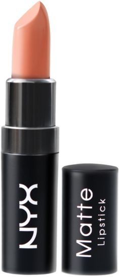 NYX Matte Lipstick features a highly pigmented formula that glides on smoothly and imparts a velvety, high-fashion matte finish as it envelops lips in rich color.