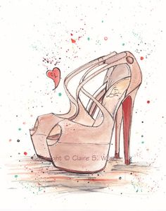 C. Louboutins  Art Print  8x10 by claireswilson on Etsy, $25.00