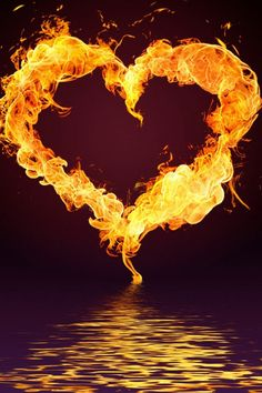 Awesome heart of fire..❤️