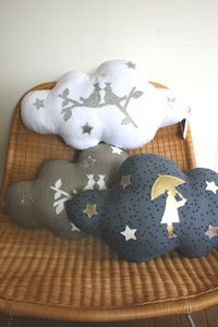 cloud pillows- i need the grey one in my life Baby Decor, Kids Decor, Floor Pillows, Bed Pillows, Funny Pillows, Cloud Pillow, Pillow Inspiration, Sewing For Kids, Sewing Ideas