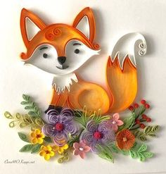 #fox #woodlandanimals #woodland #animals #quilling #card #quillingart #paperquilling #handmade #papercraft #quillingcard