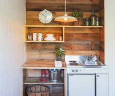 41 + Key Pieces Of Kitchenette Basement Small Spaces Mini Kitchen 23 Mini Kitchen, Kitchen Dining, Wooden Kitchen, Rustic Kitchen, Kitchen Small, Country Kitchen, Small Bathroom, Small Space Living, Small Spaces