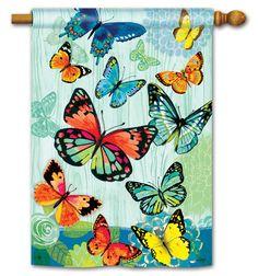 breezeart butterfly flight decorative house flag - Decorative House Flags
