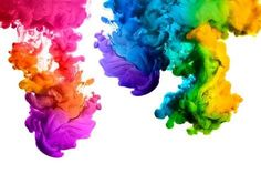 Rainbow Of Acrylic Ink In Water. Color Explosion Stock Image - Image of background, chemical: 55765093