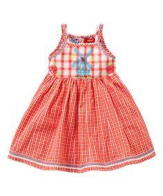 Another great find on #zulily! Red Da-Da-Da Dress - Infant, Toddler & Girls by Oilily #zulilyfinds
