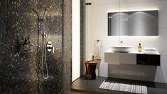 Bad Inspiration, Bathroom Inspiration, Double Vanity, Bathroom Lighting, Mirror, Furniture, Home Decor, Dom, Bathrooms
