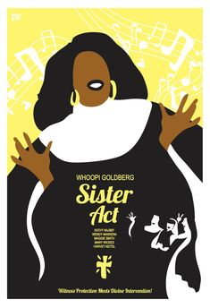 Sister Act 1992 Inspired Movie Poster Delores &