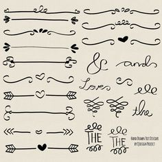 Hand drawn doodle text divider swirly clip art by qidsignproject,
