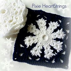 Snowflake granny. This granny-pattern in these colours is just awesome.