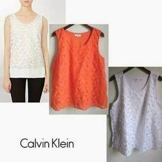 fashionlicious fashion shop online : Calvin Klein Sleeveless Embroidered