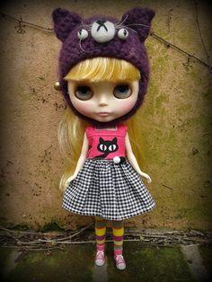 blythe msd grumpy cat hat by sandraohh on Etsy