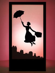 High quality Mary Poppins Silhouette Panel available to hire. View Mary Poppins Silhouette Panel details, dimensions and images. Disney Crafts, Disney Art, Walt Disney, Disney Fantasy, Disney Silhouette Painting, Mary Poppins Silhouette, Merry Poppins, Mary Poppins Musical, Disney Font Free