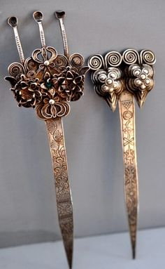 silver hair sticks Miao