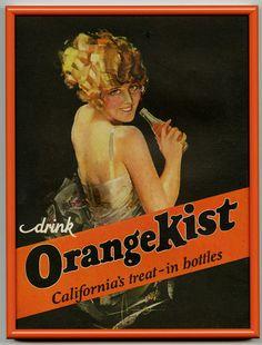orange kist, vintage, advertising, grapefruit moon, ebay, rolf armstrong.