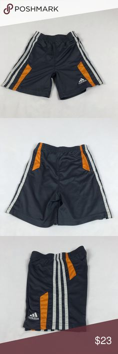 a9ce94438f Toddlers Adidas Athletic Shorts ** Used ** Toddlers Grey, Orange, & White  Adidas Athletic Shorts ** Used - Good Condition ** Size Material: Polyester  ...