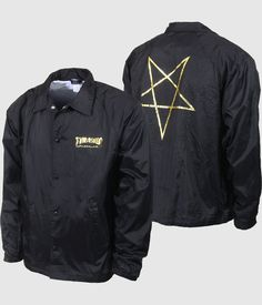 4fe5c54ce02b The Thrasher Pentagram Coach Jacket - Black is a high-quality nylon coach  jacket