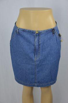 "Wear All Year GH Bass NWT Women/'s 19/"" Long Washed Denim Classic Jean Skirt"