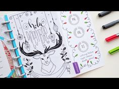 Plan with Me December 2016 - Discbound Bullet Journal - YouTube