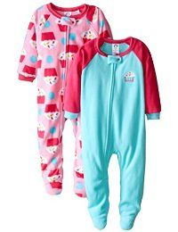 00d0977dc8 Gerber Little Girls  2 Pack Blanket Sleepers