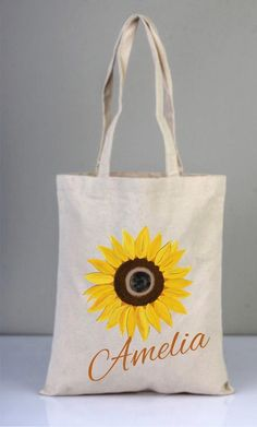 I drew and painted this design by hand made. These designs were created originally for Nar Store by me. This tote bag was made % 100 natural cotton Panama fabric gr Bags size is cm x 40 cm ( 13 inches x 16 inches) * If you need different Sunflower Canvas, Sunflower Gifts, Painted Canvas Bags, Canvas Tote Bags, Floral Tote Bags, Jute Bags, Handmade Bags, Handmade Bracelets, Cotton Bag