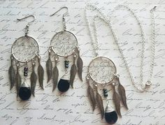 RECEIVE A FREE GIFT WITH ANY PURCHASE CYBER MONDAY!  https://www.etsy.com/listing/473756720/dream-catcher-silver-necklace-set-gifts