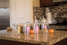 Pineapple Birthday Cups Pineapple Birthday party girls