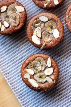 Healthy Almond Banana Muffins.