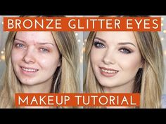 Acne Coverage // Bronze Glitter Smokey Eye Makeup Tutorial // MyPaleSkin - YouTube