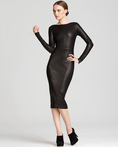 Robert Rodriguez Leather Dress - Slim | Bloomingdale's