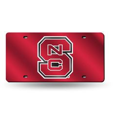 North Carolina State Wolfpack NCAA Laser Cut License Plate Tag