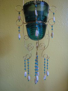 White Capping Waves Hanging Candle Holder. $68.00, via Etsy.