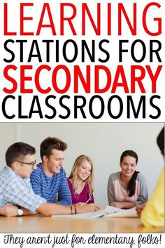 Learning stations are perfect for the secondary classroom. Differentiated Instruction, Instructional Strategies, Teaching Strategies, Teaching Ideas, Differentiation Strategies, Leadership Activities, Instructional Technology, Teaching Writing, High School Classroom