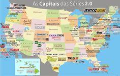 El mapa de las series de TV