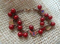 Vtáčiky s jarabinou / Martinuska - SAShE. Handmade Bracelets, Charmed, Jewelry, Jewlery, Jewerly, Schmuck, Jewels, Jewelery, Fine Jewelry