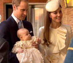 Kate Middleton and Prince William have arrived at St. James's Palace with their baby Prince George for the much-anticipated royal christening!