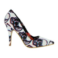 Iron Fist White third dimension heel high heels shoes. Love these!!