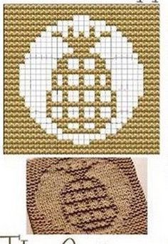 Pine-apple Knit Dishcloths Pattern