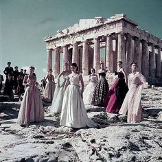 Christian Dior photoshoot at the acropolis (1951)