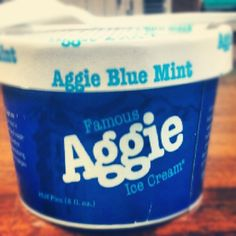 One of the many things i'm excited for about being an Aggie!!! #iloveaggieicecream!