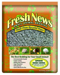Fresh News Paper Small Animal Bedding, 40,000-Cubic Centimeter *** Tried it! Love it! Click the image. (This is an amazon affiliate link. I may earn commission from it)