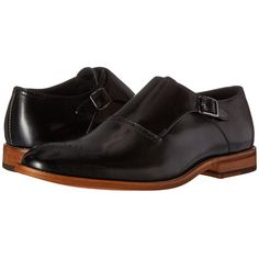 Stacy Adams Dinsmore Plain Toe Monk Strap (Black) Men's Monkstrap... ($95) ❤ liked on Polyvore featuring men's fashion, men's shoes, men's dress shoes, mens dress shoes, mens shoes, stacy adams mens shoes, stacy adams men's dress shoes and mens monk strap dress shoes