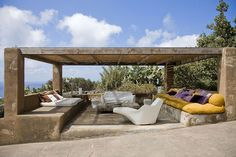 Outdoor Living Space, Casa Albanese, Isola di Pantelleria, Italia da ASA Studio Albanese