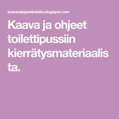 Kaava ja ohjeet toilettipussiin kierrätysmateriaalista. Photo And Video